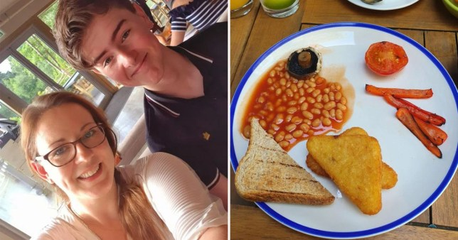 Jennifer Carr Mum left starving after paying ?10 for vegan full english breakfast at centreparcs