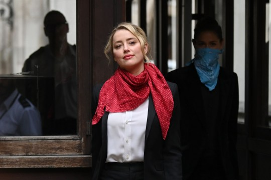 US actress Amber Heard arrives at the High Court for the libel trial by her former husband US actor Johnny Depp against News Group Newspapers