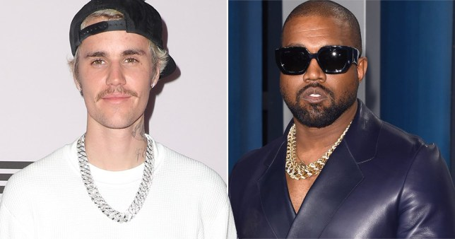 Justin Bieber visits Kanye