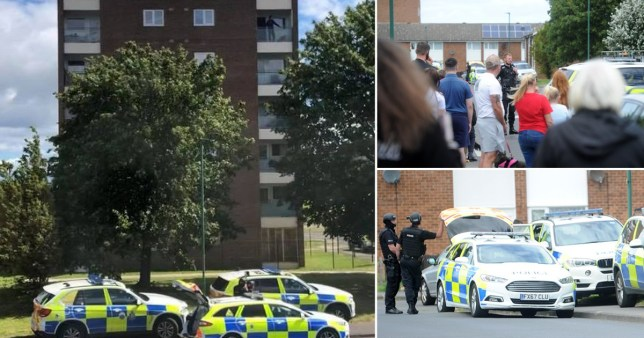 Tawney Road, where there was a hostage situation and police activity. Credit: Evening Gazette