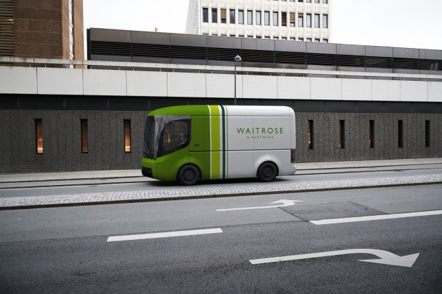 Embargoed to 0001 Wednesday July 29 Undated handout image issued by John Lewis Partnership of a new Waitrose & Partners electric van, as customers buying online food from Waitrose or receiving smaller John Lewis deliveries will be set to start seeing their shopping arrive in these vans. PA Photo. Issue date: Wednesday July 29, 2020. The John Lewis Partnership has announced plans to significantly increase the use of electric vans for deliveries, as part of its aim to end the use of fossil fuels for its entire 4,800-vehicle fleet by 2030. See PA story ENVIRONMENT JohnLewis. Photo credit should read: John Lewis Partnership/PA Wire NOTE TO EDITORS: This handout photo may only be used in for editorial reporting purposes for the contemporaneous illustration of events, things or the people in the image or facts mentioned in the caption. Reuse of the picture may require further permission from the copyright holder.