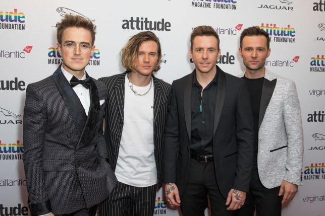 Mandatory Credit: Photo by Phil Lewis/SOPA Images/REX (10440344c) Tom Fletcher, Dougie Poynter, Harry Judd and Danny Jones from McFly Attitude Awards, Roundhouse, London, UK - 09 Oct 2019