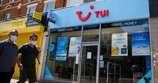 Stock image of a TUI shop