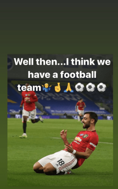 Paul Scholes reacts to Manchester United's win on Instagram