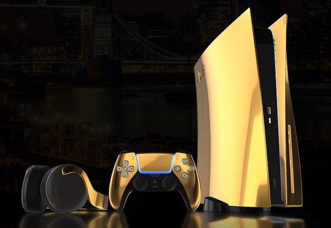 Gold-plated PS5 console