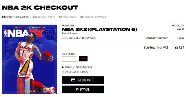NBA 2K21 next gen price