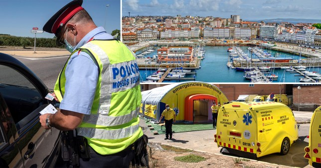 Entry into and out of La Marina north of Lugo in Galicia will be banned from midnight toda