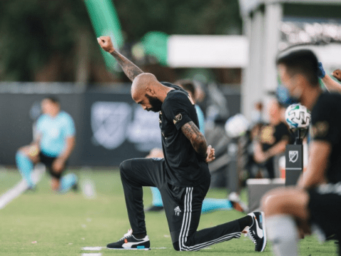 Thierry Henry kneels for 8 minutes, 46 seconds in support of Black Lives Matter movement
