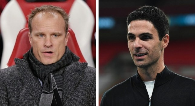 Arsenal legend Dennis Bergkamp and current Gunners manager Mikel Arteta