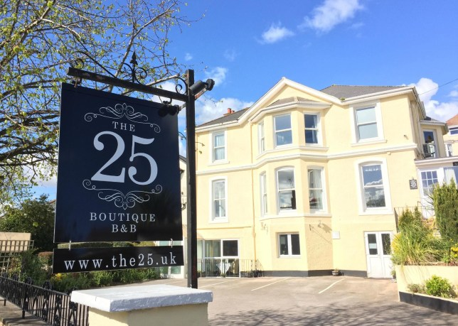 The 25 in Torquay has been crowned the best B&B in the world