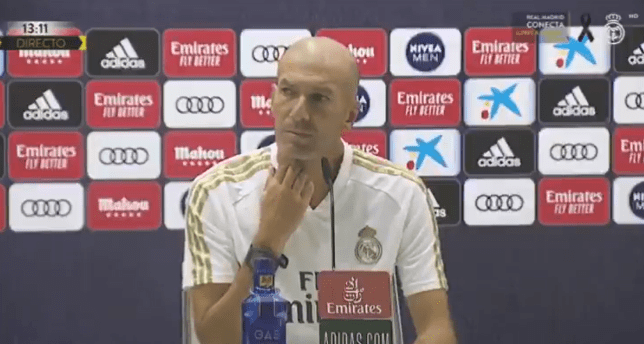 Real Madrid boss Zinedine Zidane snaps at reporter over Gareth Bale question