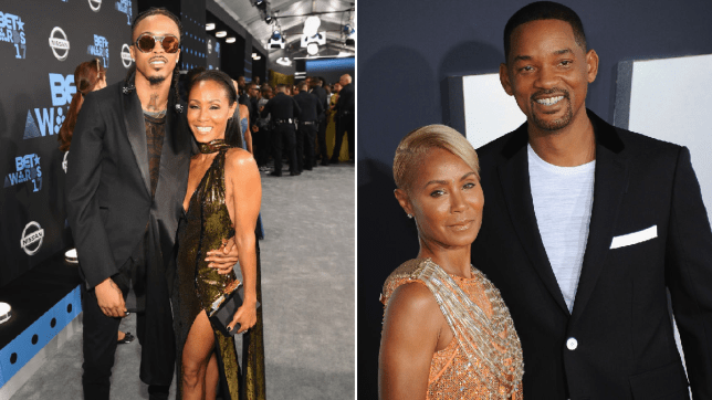 August Alsina, Jada Pinkett Smith and Will Smith