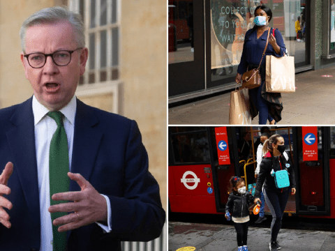 Gove says face masks shouldn't be mandatory but they're 'basic good manners'
