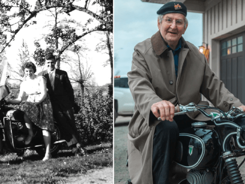 Widower, 90, reunited with motorbike 60 years after he was forced to leave it behind