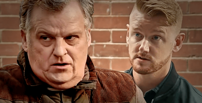 Gary and Brian in Coronation Street