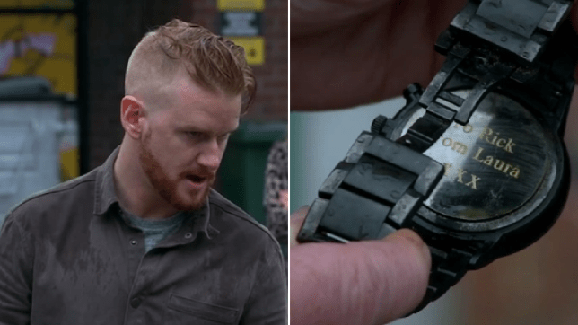 Gary and the watch in Coronation Street