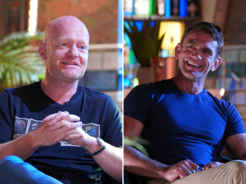 Jake Wood and Scott Maslen will reflect on unforgettable live episode mishaps in Secrets from the Square