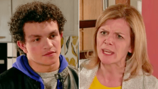 Leanne and Simon in Coronation Street
