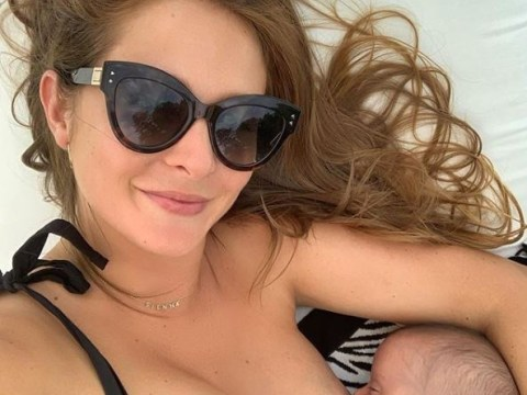 Millie Mackintosh urges us to 'normalise breastfeeding' and reveals it's her 'favourite way to feed' daughter Sienna