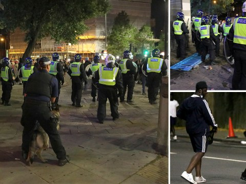 Glass bottles thrown at police as they break up another illegal rave