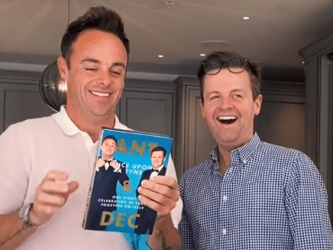 Ant and Dec unveil first copy and front cover of new book Once Upon A Tyne as they return from summer break
