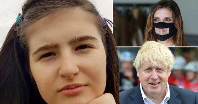 Emma Church and Boris Johnson