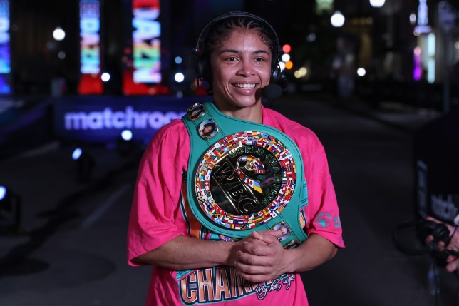 Jessica McCaskill with her belts