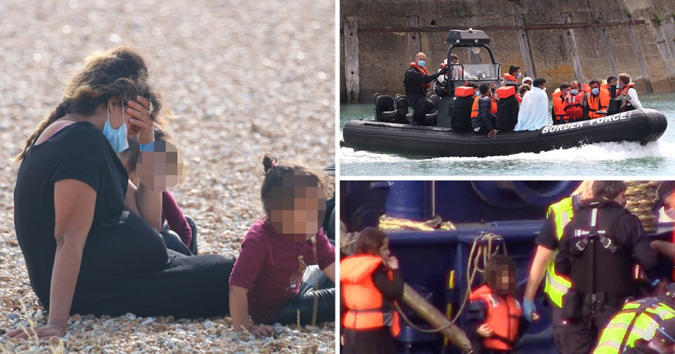 A heavily pregnant woman was among a record 235 migrants who reached UK shores on small boats on Thursday