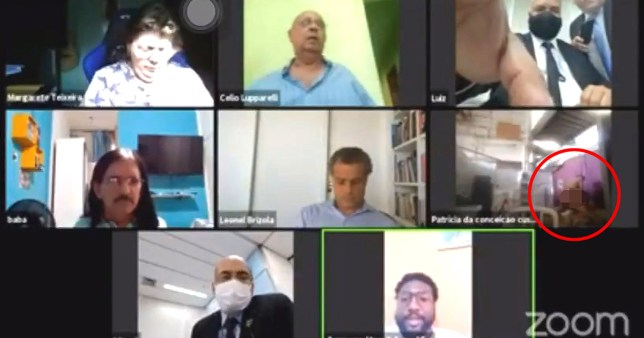 Rio de Janeiro councillors stayed calm even as a man started having sex on their Zoom meeting.