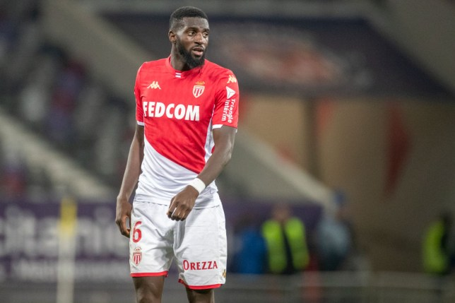 Tiemoue Bakayoko #6 of Monaco during the Toulouse FC V AS Monaco, French Ligue 1 regular season match at the Stadium Municipal de Toulouse on December 4th 2019 in Toulouse, France
