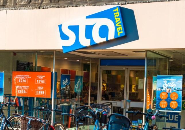 STA Travel storefront