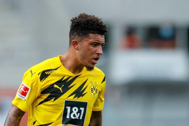 Manchester United transfer target Jadon Sancho looks on during Borussia Dortmund's clash with FK Austria Wien