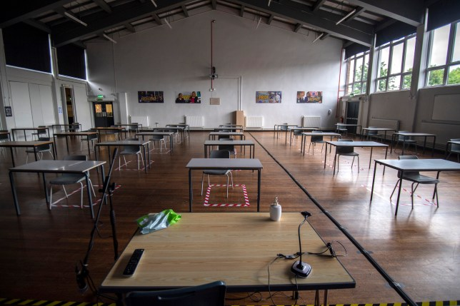 Pupils Practice Social Distancing At All Saints Catholic College