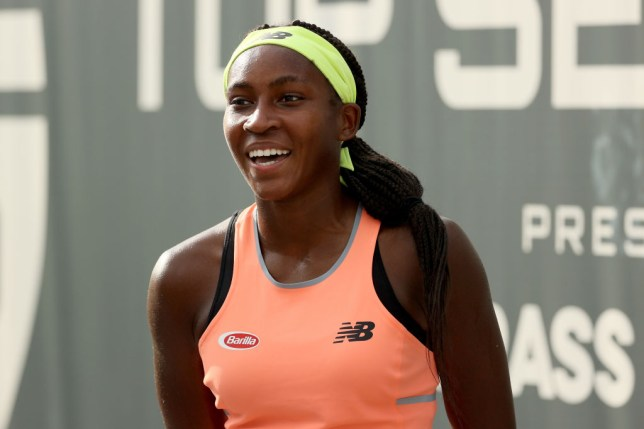 Cori Gauff speaks to the media after defeating Aryna Sabalenka of Belarus 7-6, 4-6, 6-4 during day three of the Top Seed Open at the Top Seed Tennis Club on August 12, 2020 in Lexington, Kentucky.