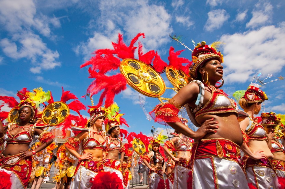 Performers during the Notting Hill Carnival