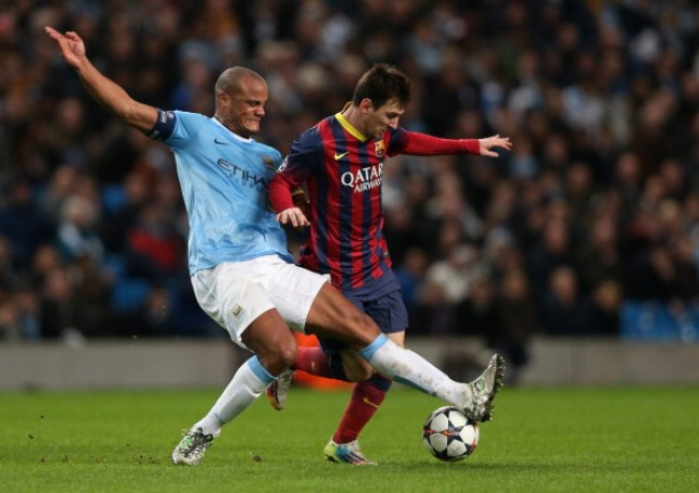Vincent Kompany has urged Lionel Messi to join his old team Manchester City