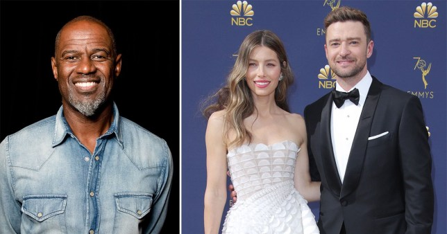 Brian McKnight; Jessica Biel and Justin Timberlake