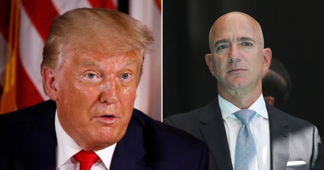 President Trump takes a swipe at Jeff Bezos' fortune claiming there is 'too much income disparity in the US' as billionaires' fortunes soared during the coronavirus pandemic.