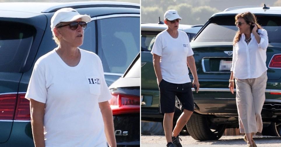 Ellen DeGeneres out with a friend
