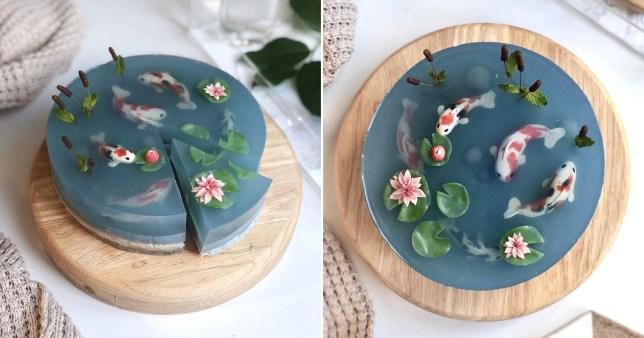 fish pond jelly cake