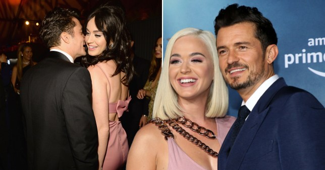 Orlando Bloom pictured with Katy Perry