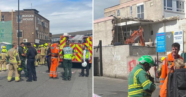 Construction worker crushed to death as two-storey building collapses