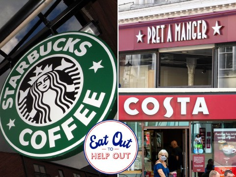 Are Costa, Pret and Starbucks taking part in Eat Out To Help Out – what are their menu prices?