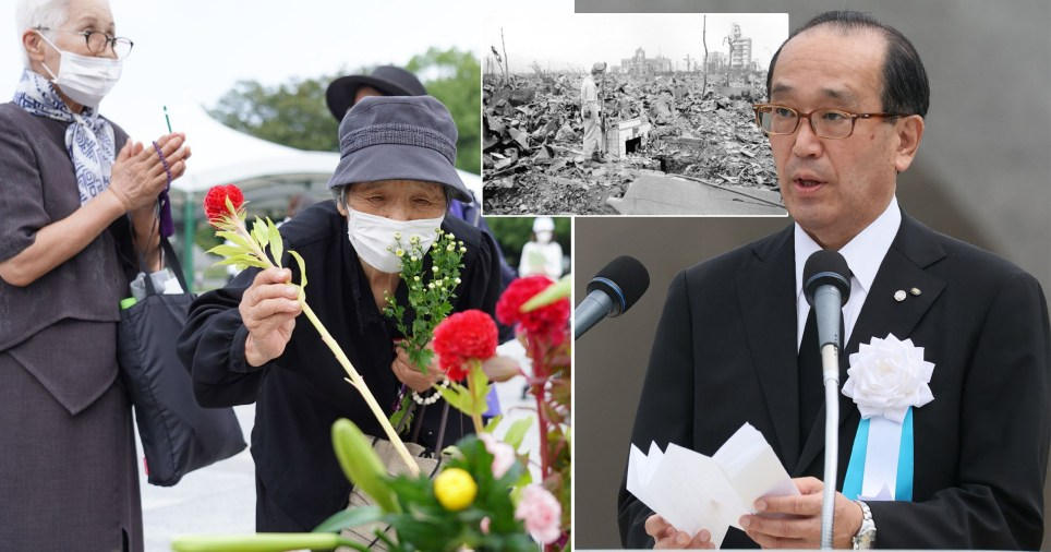 The dwindling number of survivors of the Hiroshima atomic bombing have made a plea to world leaders to commit to nuclear disarmament