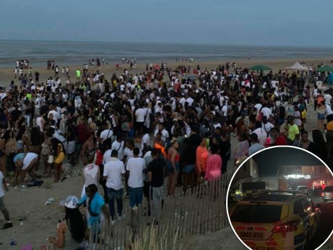 Hundreds descend on beach for illegal rave after police foil 'cookout' event