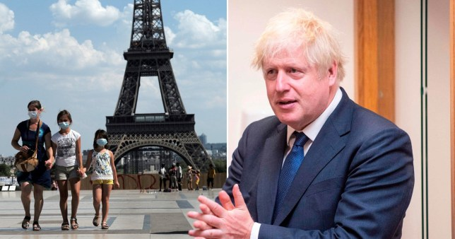 Fears are growing that France could be added to the UK quarantine list, as Boris Johnson said he would 'not hesitate' to impose restrictions.