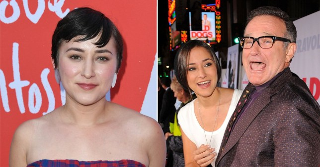 Zelda Williams pictured with late dad Robin Williams