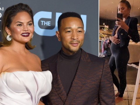 Chrissy Teigen was pregnant when she had surgery to remove breast implants but didn't know