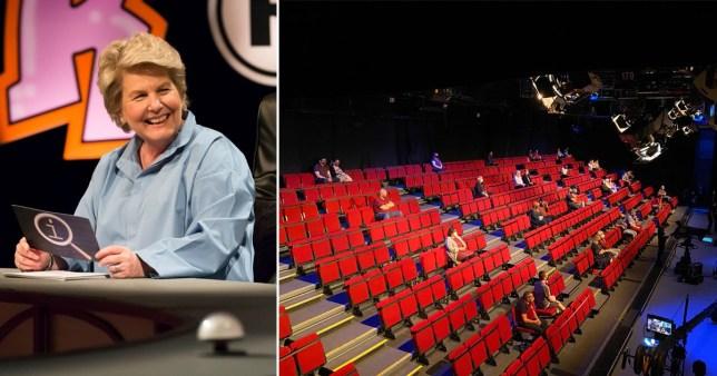 QI host Sandi Toksvig and the studio audience