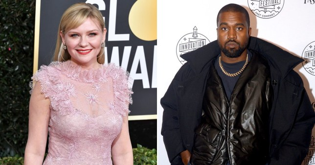 Kirsten Dunst pictured alongside Kanye West